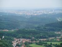 Pohled na nedaleké Brno