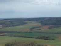 Pohled z rozhledny Líský jižním směrem