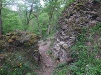 Stěny hradu Týřov