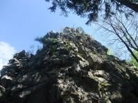 Vrchol hradu Milštejna