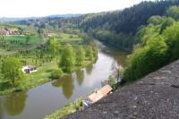 Pohled z hradu na Sázavu
