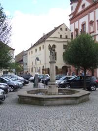 Kašna se sochou svatého Floriána