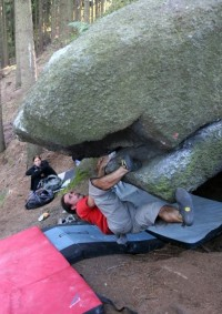 Bouldering v Libereckém Vesci
