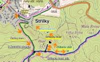 Chřiby: Okruh u Střílek - mapa