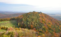 Chřiby (Buchlovské hory): vyhlídka z hradní věže Buchlova - Barborka