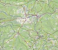 Krkonoše: mapa trasy Sněžka - Luční bouda - Liščí hora - Pec pod Sněžkou