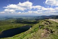 Krkonoše: ledovcové jezero Wielki staw