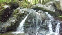 Krňanský vodopád při ústí do Vltavy pod osadou Slávie