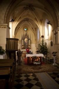 Vánoční atmosféra v kostelíku