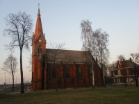 Hrušov, Alšův sad, kostel sv. Františka a Viktora, kulturní památka