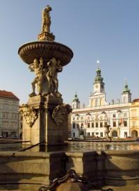 České Budějovice - Barokní Samsonova kašna