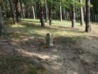 Hraniční kámen v oboře Holedná