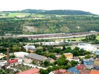 pohled na jih - nákladní nádraží