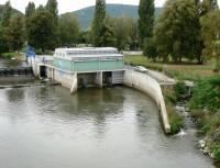 MVE a rybí přechod z mostu přes Berounku