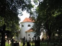 Kostel sv. Michala a hřbitov v Bechyni