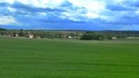 pohled z vyvýšeniny ve východní části  obce na obec Štěpánov