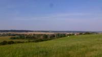 pohled na obec Benešovice od místní vodárny