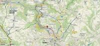 mapka výletu ze Semil Riegrovou stezkou a zpět do Semil