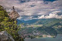 Horské chaty u jezera Lago di Garda Trentino