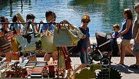 Trhy u jezera Garda