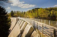 Pastvinská přehrada - hráz