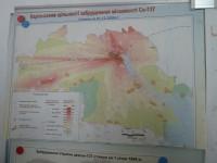 Mapa zamoření oblasti radiací