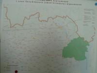 Mapa okolí Černobylu