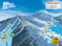 Mapa ski areálu