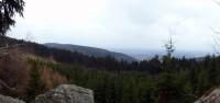 výhled na Rašovskou část Ještědského hřebene