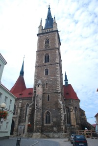 Čáslav - věž kostela sv. Petra a Pavla