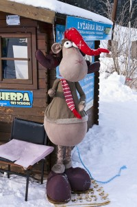 Maskot lyžařské školy