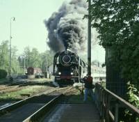 Parní vlak v Šumperku