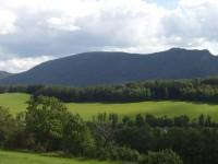 pohled z vyhlídky na Jizerské hory