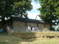 Pohled na zbytky opravné kaple zepředu