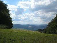 Výhled z rozcestí Hřeben