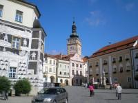 Náměstí a kostel sv, Václava