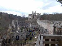 Zlatá Koruna, Dívčí kámen a oppidum Třísov