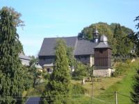 Dřevěný kostel v Kryštofově údolí