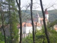 Výhledy na hrad z cesty