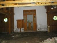 Interiér kaple-nyní v rekonstrukci