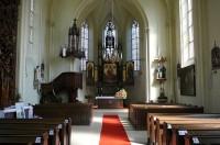 Interiér kostela sv. Barbory v Adamově