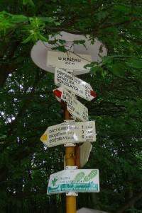 Turistické rozcestí U Křížku