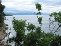 Selce - vápencové pobřeží s vyhlídkou na ostrov Krk a NP Svernij Velebit