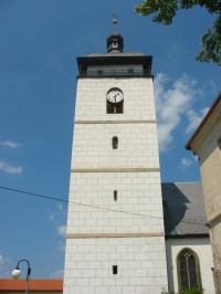 věž kostela v České Kamenici