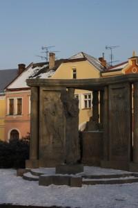 Blahoslavova socha od Františka Bílka v Přerově