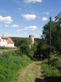 Dobronice u Bechyně zřícenina středověkého hradu nad řekou Lužnicí