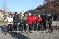 Silvestrovská vyjížďka 2012 po cyklostezce do Morkovic