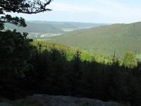 Plošina - skalní vyhlídka