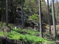 Příčný vrch - Spodní Hornické skály
