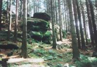 Krajčice - skála Zelená příšera